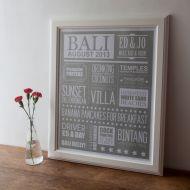 Personalised Memories Print - Unframed