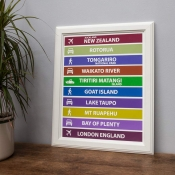 Personalised Destination Blind Print - Unframed