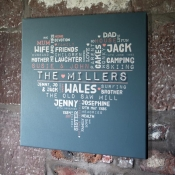 Personalised Family Word Art Canvas
