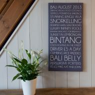Personalised 'Memories' Stretched Mounted Canvas 12