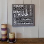 Personalised Name Word Art Canvas