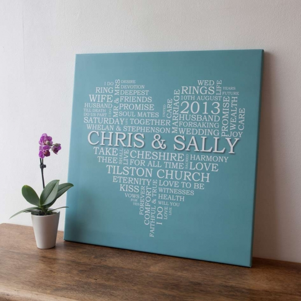 Wall Art Canvas Words : Words canvas wall art uk word personalised
