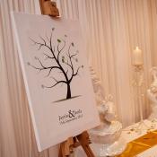 Wedding Finger Print Tree Canvas