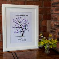 Personalised Wedding Fingerprint Tree - Unframed