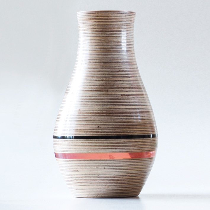 Hand Made Wooden Vase Hatched Creative Personalised Art