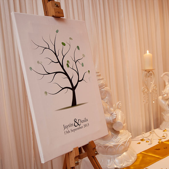Wedding fingerprint tree personalised canvas - Hatched Creative ...